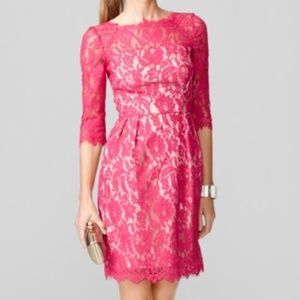 Milly Stella Pink Lace Dress 8